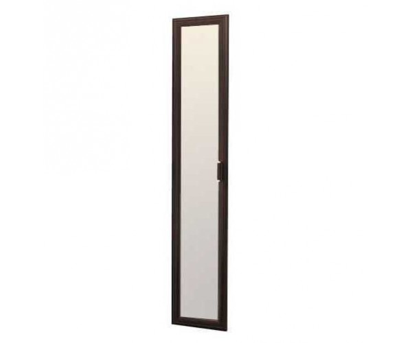Дверь 2188х396 Волжанка с зеркалом венге/крок коричневый