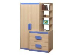 Шкаф комбинированный Лайф - 1 дуб линдберг/голубой