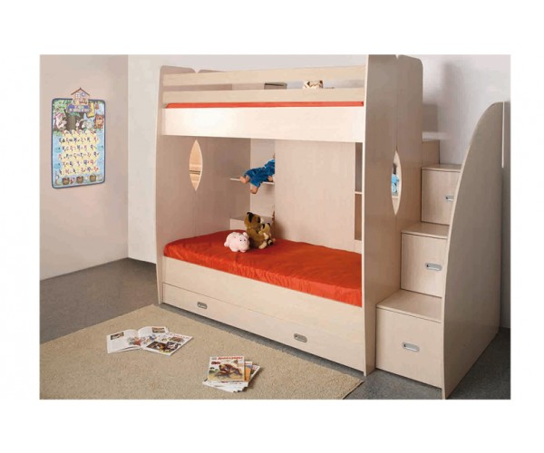 Кровать двухъярусная Адель - Д1 дуб линдберг
