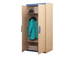 Шкаф для одежды Лайф - 2 дуб линдберг/голубой