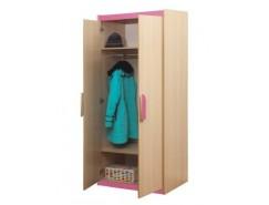 Шкаф для одежды Лайф - 2 дуб линдберг/розовый