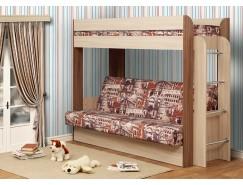 Кровать двухъярусная Немо с матрацем дуб линдберг/венге (Архитектура) (надо основание)
