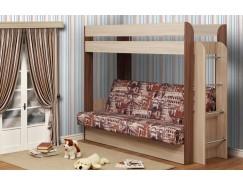 Кровать двухъярусная Немо без верхнего матраца ясень шимо светлый/ясень шимо темный (Архитектура) (надо основание)