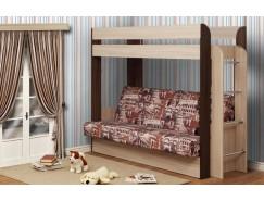 Кровать двухъярусная Немо без верхнего матраца дуб линдберг/венге (Архитектура) (надо основание)