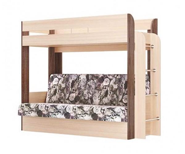 Кровать двухъярусная Немо без верхнего матраца ясень шимо светлый/ясень шимо темный (Лас Вегас) (надо основание)