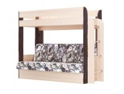 Кровать двухъярусная Немо без верхнего матраца дуб линдберг/венге (Лас Вегас) (надо основание)