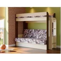 Кровать двухъярусная Немо с матрацем ясень шимо светлый/ясень шимо темный (Лас Вегас) (надо основание)