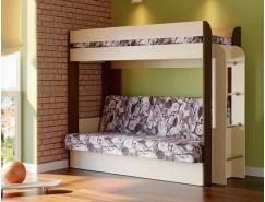 Кровать двухъярусная Немо с матрацем дуб линдберг/венге (Лас Вегас) (надо основание)