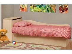 Кровать односпальная Тони - 11 дуб линдберг/ткань поликоттон стеганный