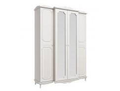 Шкаф для одежды Кантри вудлайн кремовый/белый/ПВХ сандал белый