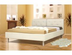 """Кровать интерьерная Анжелика (1400) надо основание """"Оптимум"""" белый"""