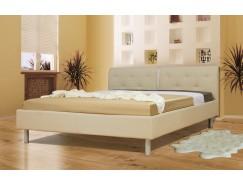 """Кровать интерьерная Анжелика (1400) надо основание """"Оптимум"""" бежевый"""