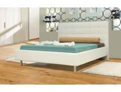 """Кровать интерьерная Треви (1400) надо основание """"Оптимум"""" белый"""