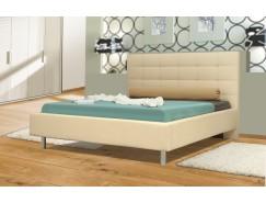 """Кровать интерьерная Треви (1400) надо основание """"Оптимум"""" бежевый"""