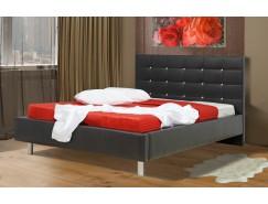 """Кровать интерьерная Треви (1400) надо основание """"Оптимум"""" черный"""