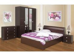 Набор мебели для спальни Мона компл. 1 венге/кожзам Глянец крокодил коричневый
