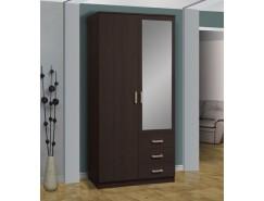 Шкаф для одежды Фриз 06.290 с зеркалом венге