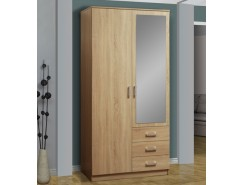 Шкаф для одежды Фриз 06.290 с зеркалом дуб сонома