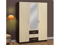 Шкаф для одежды Фриз 06.291 с зеркалом венге/дуб линдберг
