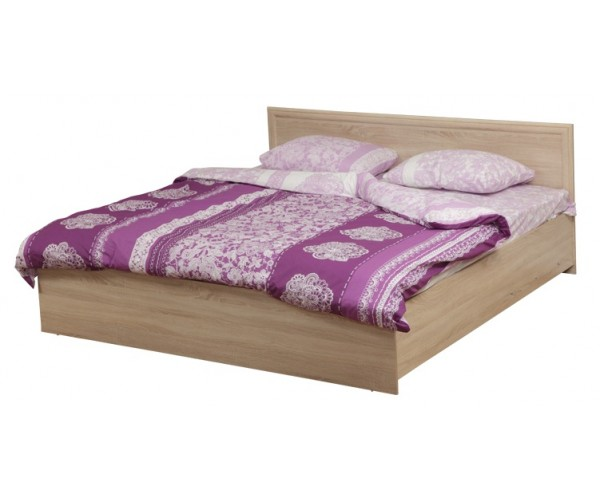 Кровать двуспальная Фриз 21.52-01 с настилом (1400) дуб сонома