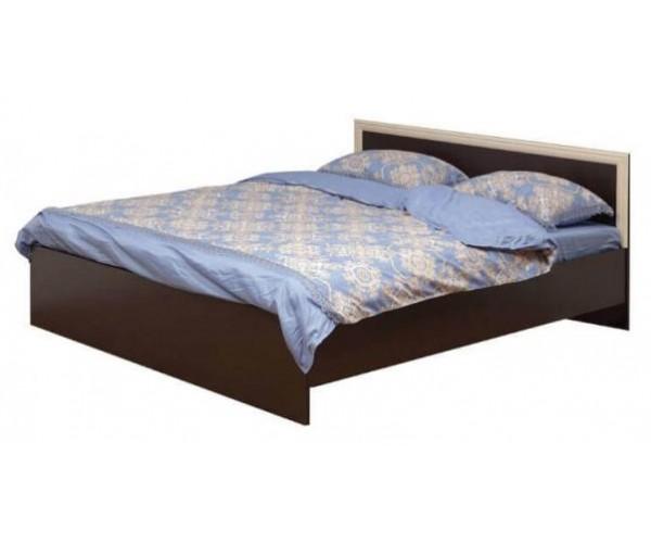 Кровать двуспальная Фриз 21.54-01 с настилом (1800) венге/дуб линдберг