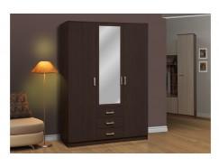 Шкаф комбинированный 06.291 с зеркалом венге