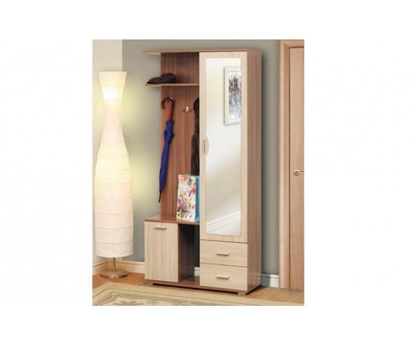 Кармен - 1 шкаф комбинированный ясень шимо темный/ясень шимо светлый