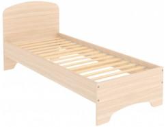 Кровать с ортопедическим основанием одноместная КМ08 молочный дуб