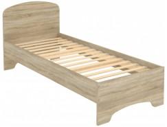 Кровать с ортопедическим основанием одноместная КМ08 дуб сонома