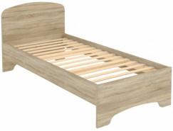 Кровать одноместная с ортопедическим основанием КМ09 дуб сонома