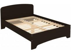 Кровать двухместная с ортопедическим основанием КМ14 венге