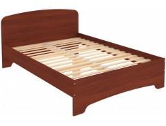 Кровать двухместная с ортопедическим основанием КМ14 итальянский орех