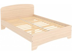Кровать двухместная с ортопедическим основанием КМ14 молочный дуб