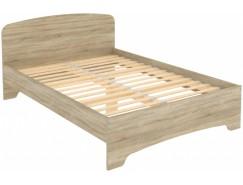 Кровать двухместная с ортопедическим основанием КМ14 дуб сонома
