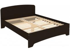 Кровать двухместная с ортопедическим основанием КМ16 венге
