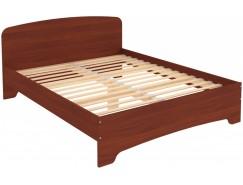 Кровать двухместная с ортопедическим основанием КМ16 итальянский орех