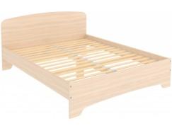 Кровать двухместная с ортопедическим основанием КМ16 молочный дуб