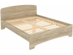 Кровать двухместная с ортопедическим основанием КМ16 дуб сонома