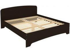 Кровать двухместная с ортопедическим основанием КМ18 венге