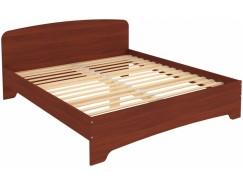 Кровать двухместная с ортопедическим основанием КМ18 итальянский орех