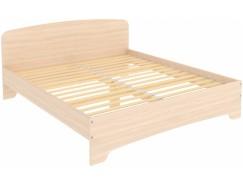 Кровать двухместная с ортопедическим основанием КМ18 молочный дуб