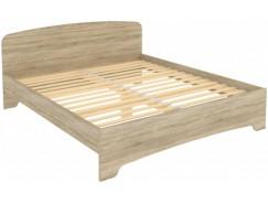 Кровать двухместная с ортопедическим основанием КМ18 дуб сонома
