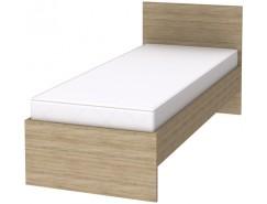 Кровать с ортопедическим основанием одноместная К08 дуб сонома
