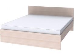 Двухместная кровать с ортопедическим основанием К18 молочный дуб
