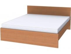 Двухместная кровать с ортопедическим основанием К18 ольха