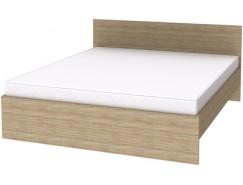 Двухместная кровать с ортопедическим основанием К18 дуб сонома