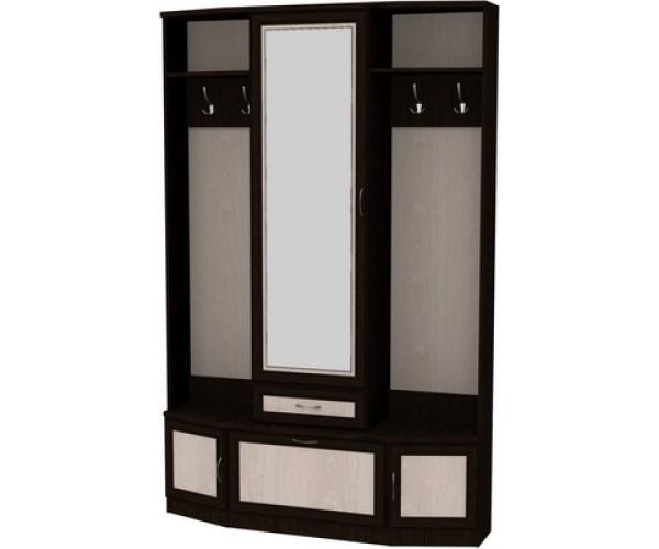 Шкаф для прихожей с зеркалом 600 венге