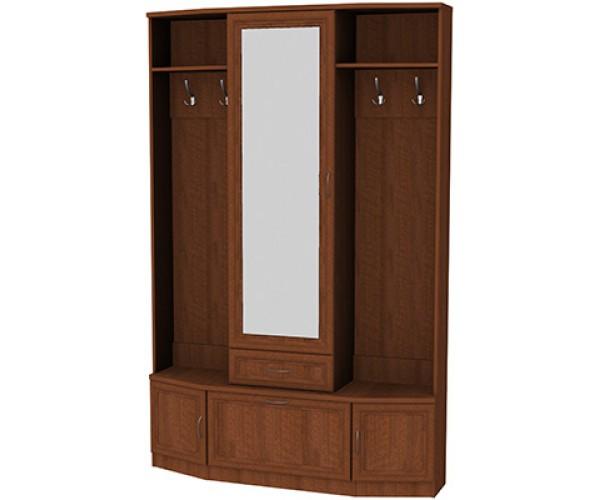Шкаф для прихожей с зеркалом 600 дуб