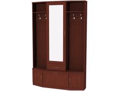 Шкаф для прихожей с зеркалом 600 итальянский орех