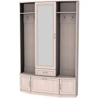 Шкаф для прихожей с зеркалом 600 молочный дуб